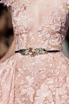 runwayandbeauty:Detail at Zuhair Murad Couture Spring 2015.