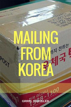Shipping with Korea Post is easy and cheap, foreigners use Korea post, mailing things home from Korea is cheap when shipping souvenirs