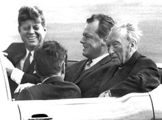 JFK, Willy Brandt, Konrad Adenauer, Berlin, June 1963