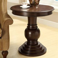 Monarch Specialties I 3356 Round Accent Table