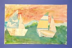 Splish Splash Splatter: Sailing into the Sunset, use student papers for the boats- talk about Monet