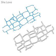 She Love Wall Brick Scrapbooking Metal Cutting Dies DIY Album Embossing Stencils Die Cutting Template Paper Cards(China (Mainland))
