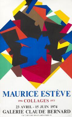 Maurice Esteve Collages 1956-1973 - Galerie Claude Bernard by Esteve, Maurice | Shop original vintage #posters online: www.internationalposter.com