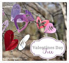 Create a Valentines Day Tree...yes, you just put away the Christmas tree.  This is easier.  I promise.