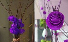i also want to make the centerpieces for the reception from branches and paper
