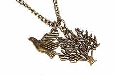 ♡ Herbstwald ♡ Vintage Halskette