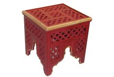 Red Moroccan Table