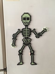 Magnetic Skeleton with Adjustable Limbs perler beads by CatsandConsoles