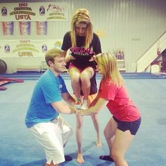 ...your first basket toss was probably a little terrifying. | 35 Things Every Cheerleader Will Understand #cheer #cheerleader #cheerleading