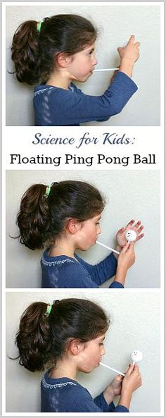 STEM for Kids: Floating Ping Pong Ball- Kids love this science activity demonstrating Bernoulli's Principle and exploring gravity. Can be adapted for younger children too! ~ http://BuggyandBuddy.com