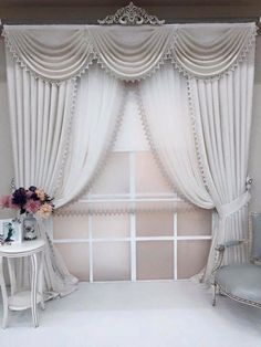 [New] The 10 All-Time Best Home Decor (Right Now) - Apartment by Jennie Cross - Curtains And Draperies, Elegant Curtains, Home Curtains, Drapery Panels, Valances, Curtain Patterns, Curtain Designs, Rideaux Design, Farmhouse Curtains