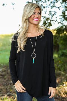 PIKO:Just About Anywhere Blouse-Black - New Today | The Red Dress Boutique