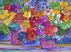 """A Great Day"" - Original Watercolor by Barbara Doncaster - Watercolor Artist #Art #Watercolor #Floral"