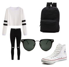 """Untitled #24"" by emersenhartley on Polyvore featuring Boohoo, Converse, Vans and Spitfire"