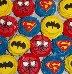 more superhero cupcakes