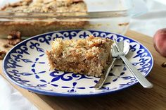 Cooking Bakery | Baked Oat-Meal mit Pfirsichen Baked Oats, French Toast, Bakery, Pie, Meals, Cooking, Breakfast, Desserts, Food