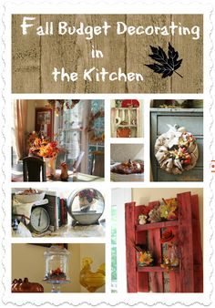 #Fall kitchen decor. #Budget friendly, diy #crafts and #dollar tree decor crafting. Free #pallets.