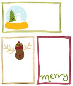 Adorable Printable Christmas Gift Tags: add even more joy to your Christmas gift giving with these free printables.