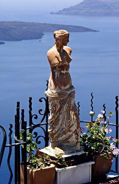 Aphrodite & the Santorini Volcano , Greece