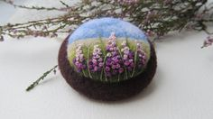 Needle felted brooch by FeltAccessories