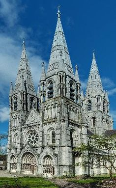 Western front of St, Fin Barre's Cathedral. Cork, Ireland.