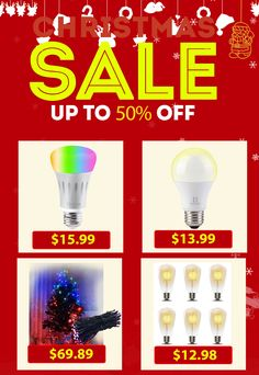 50% off our smart light bulbs from now until 12/26! You got them