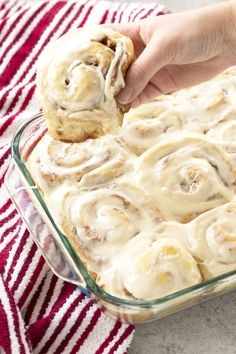 This recipe is hands down the Best Homemade #CinnamonRolls Ever. The perfect soft, fluffy, gooey cinnamon rolls are right at your fingertips. This is the only recipe you'll ever need.