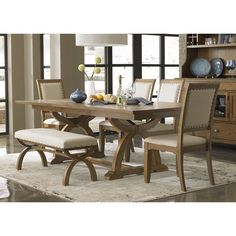 Liberty Town and Country Transitional 6-piece Dinette Set