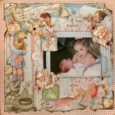 Little Darlings - Scrapbook.com   ....createdby Amber Boren ( 20-Mar-12 ) Wendy Schultz onto Graphic 45 Cards and Layout's.