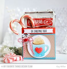 Gift Tag Greetings, Blueprints 2 Die-namics, Double Stitched Circle STAX Die-namics, Hot Cocoa Cups Die-namics, Let It Snowflake Die-namics, Zig Zag Stitched Rectangle STAX Die-namics - Kay Miller  #mftstamps