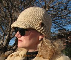 Visor Beanie with Ribbed Brim | Craftsy