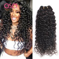 3 번들 브라질 처녀 머리 깊은 곱슬 브라질 머리 깊은 웨이브 브라질 머리 직조 번들 습식 및 물결 모양의 인간의 머리 번들