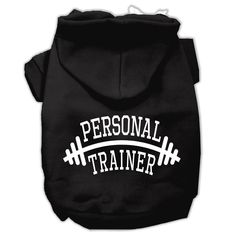 Personal Trainer Screen Print Pet Hoodies Black Size XL (16)