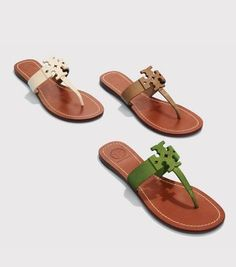 Color:  Our Moore Flat Thong Sandal has all the makings of an indispensible go-to shoe for sunny days and getaways. Made of tumbled leather with a graphic laser-cut double-T logo, this refined style offers comfort, versatility and a pared-down silhouette that's an easy match to everything in your warm-weather wardrobe.