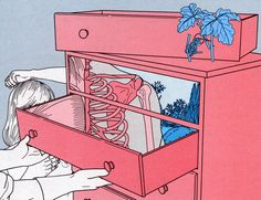 """Illustrator Vaka Valo has been working on their """"Dream Diary"""" series since 2012. The illustrations are appropriately dreamlike—narratively weird and a..."""