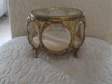 Gilded Brass Ornate Jewelry Casket~ Dresser Box ~ Stunning