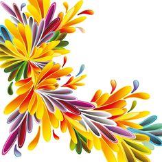 Different cartoon flower mix design vector 01