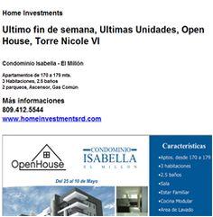 Ultimo fin de semana, Ultimas Unidades, Open House, Torre Nicole VI 809.412.5544 - Publicidad