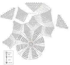 Embroidery Bracelets Home Decor Crochet Patterns Part 66 - Beautiful Crochet Patterns and Knitting Patterns - Home Decor Crochet Patterns Part 66 Crochet Tablecloth Pattern, Crochet Doily Patterns, Crochet Mandala, Crochet Motif, Crochet Doilies, Crochet Stitches, Knitting Patterns, Crochet Books, Mandala Rug
