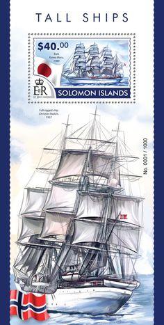 Post stamp Solomon Islands SLM 15310 bTall ships (Bark Kaiwo Maru, 1989)