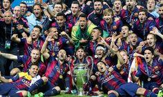 Barcelona vs Juventus (3-1) TROPHY CELEBRATION - UCL Final 2015