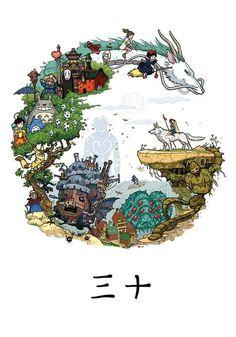 ✏ FanArt de Tous les Ghibli ✂ ~ Movies Animations : Le Voyage de Chihiro ⭐ Le Château Ambulant ⭐ Le Château dans le Ciel ⭐ Totoro ⭐ Princesse Mononoké ⭐ Kiki la Petite Sorcière ⭐ _ ~ [❤_Studio_Ghibli_❤]