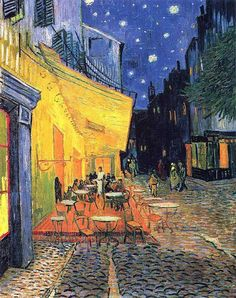 https://www.chinaoilpaintinggallery.com/famous-artists-van-gogh-c-141_143, Cafe terrace at night by Vincent van Gogh