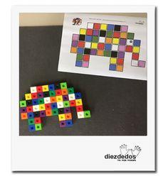 Cuatro actividades matemáticas sobre Elmer, el bromista elefantito de colores. Cube Pattern, Pattern Blocks, Games For Kids, Activities For Kids, I Love Math, Grande Section, Rainbow Room, Maila, Practical Life