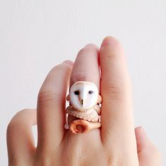 Reserved for kostromich daintyme Enamel Owl by DAINTYmeBOUTIQUE