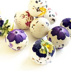 Seed bombs with dried flowers pressed right in!!  SO much more beautiful than…