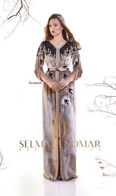 Selma ben omar new collection 2019 VELVET Abaya Fashion, Modest Fashion, Fashion Dresses, Hijab Dress Party, Moroccan Caftan, Oriental Fashion, Modest Outfits, Dress Skirt, Style Inspiration