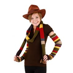 Doctor Who the Fourth Doctor Hat Price: $21.95  Salute the human races indomitability with a visit to your favorite planet in the fourth doctors hat. dont forget to pack the jelly babies!  This oversized brown fedora style hat was made famous by Tom Baker during his years playing Doctor Who. Officially licensed by BBC Worldwide Ltd.    #cosplay #costumes #halloween