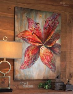 Uttermost Splash Of Spring Floral Art 34214 Flower Canvas, Flower Art, Lilly Flower, Art Floral, Simple Acrylic Paintings, Art Decor, Decoration, Spring Painting, Canvas Wall Art