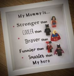 Best Selling - Superhero Lego Mummy/ Any wording Frame - Pre order